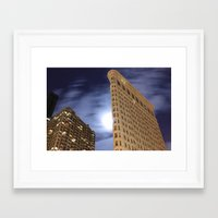 30 seconds to mars Framed Art Prints featuring Flatiron Building/30 Seconds by Jonathan Hess