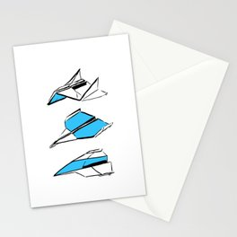 Paper Planes: Blue Stationery Cards