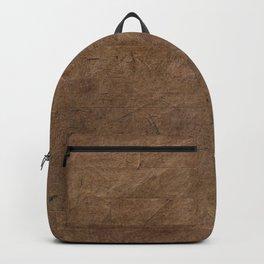 Grunge coffee brown brick Backpack