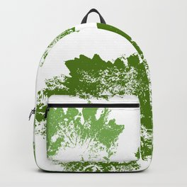 Green leaves stamp Backpack