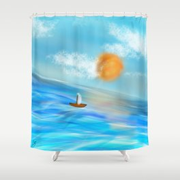 sunny's coming Shower Curtain