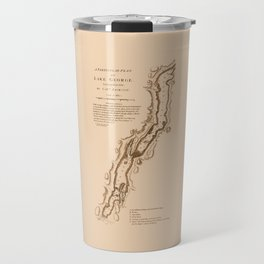 1756 Map of Lake George in the Adirondacks Travel Mug