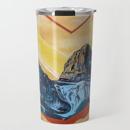 Three Sister Mountains Travel Mug