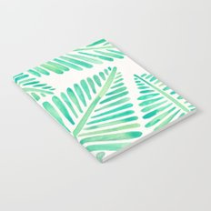 Tropical Banana Leaves – Mint Palette Notebook