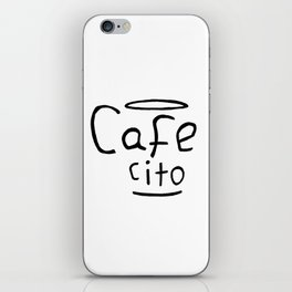 Cafecito Black and White iPhone Skin