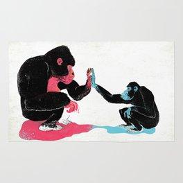 Monkey See Monkey Do Rug