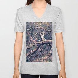 dead forest fallen trees x Unisex V-Neck