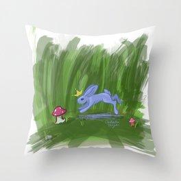 Lilac Bunny King Throw Pillow