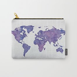 Purple World Map 02 Carry-All Pouch