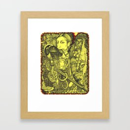 Black-and-yellow gap Framed Art Print