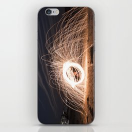 Woolspinning at the Beach iPhone Skin