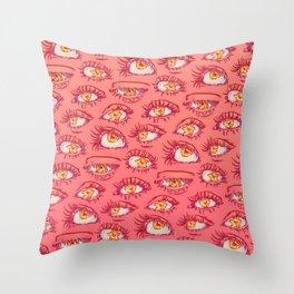 EYES PATTERN Throw Pillow