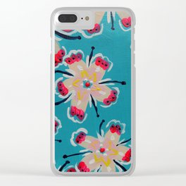 Georgia Lilly Clear iPhone Case