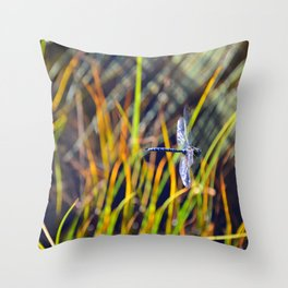 Damselfly Throw Pillow