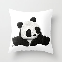 Lace Agate Panda Throw Pillow