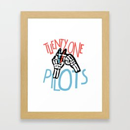 21PILOTS Framed Art Print