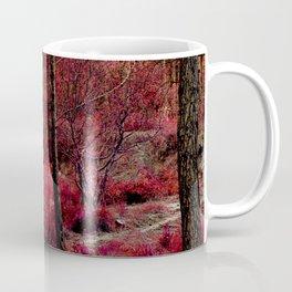 Red forest landscape electric alien Coffee Mug