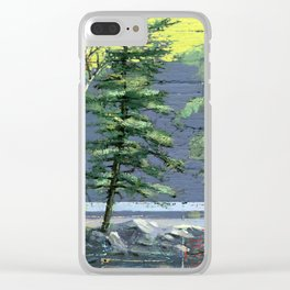 eagle's nest Clear iPhone Case
