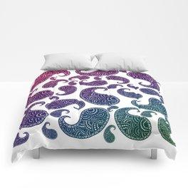Jewel toned paisleys Comforters