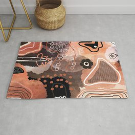 Volcanic Copper Neutral, Home Decor, Living Room Wall Rug