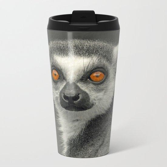 LEMUR PORTRAIT Metal Travel Mug