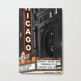 Historic Chicago Theatre Metal Print