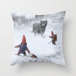 furry demon Throw Pillow