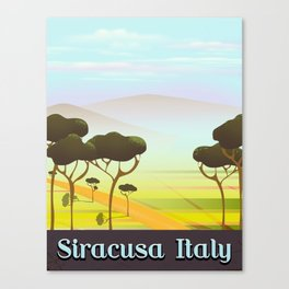 Siracusa Italy travel poster Canvas Print