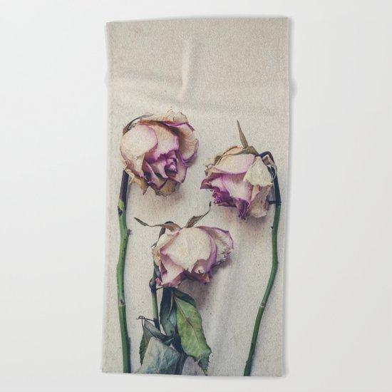 Vintage Roses II Beach Towel