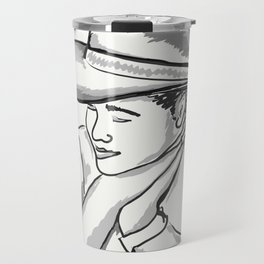 Cowgirl Portrait of a Woman in Love Travel Mug