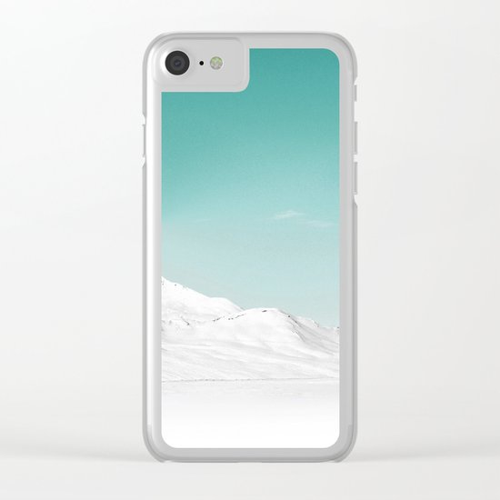 Pastel Mountain Clear iPhone Case