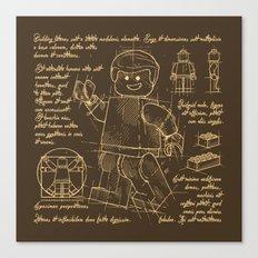 Plan Lego Canvas Print