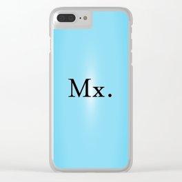 Mx. in Blue Clear iPhone Case