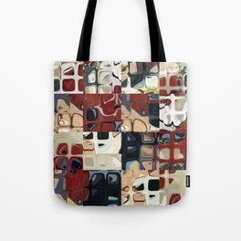 MID CENTURY RETRO MODERN Abstract Pattern Art by Michel Keck Tote Bag