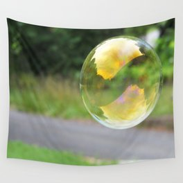 One Bubble Stands Alone Wall Tapestry