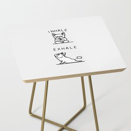 Inhale Exhale French Bulldog Side Table