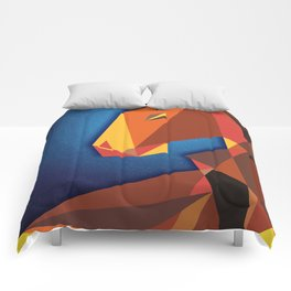 Abstract horse- Caballo abstracto Comforters