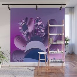 Abstract cactus blooming Wall Mural