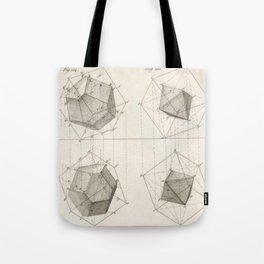 Crystal Geometry Tote Bag