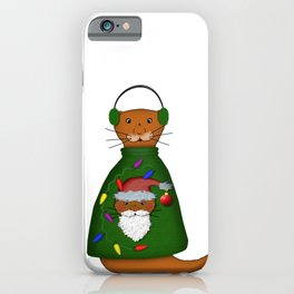 Oliver The Otter In Nana's Ugly Sweater iPhone Case