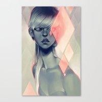 loish Canvas Prints featuring Blush by loish