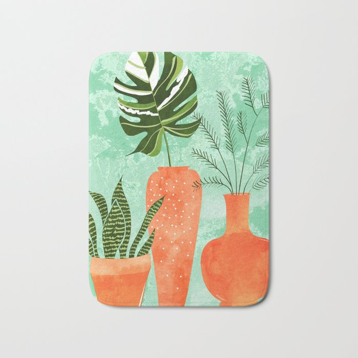 Water My Plants #painting #illustration Bath Mat