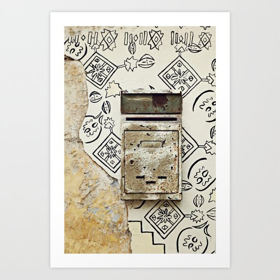 Mailbox and Mural Art Print