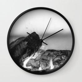 Summer Seaside Fires Wall Clock