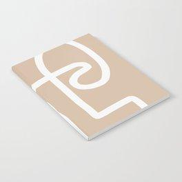 beige squiggle Notebook
