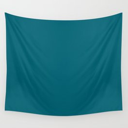 Dark Quetzal Blue Green 2018 Fall Winter Color Trends Wall Tapestry