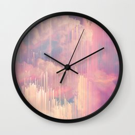 Candy Glitched Sky Wall Clock