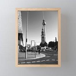 Berlin BW Framed Mini Art Print