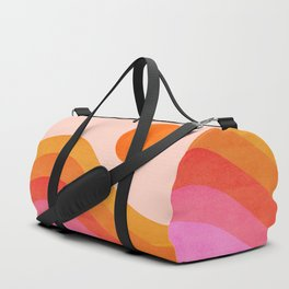 Abstraction_SUNSET_OCEAN_COLOR_POP_ART_Minimalism_009D Duffle Bag