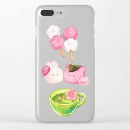 Hanami Green tea time Clear iPhone Case